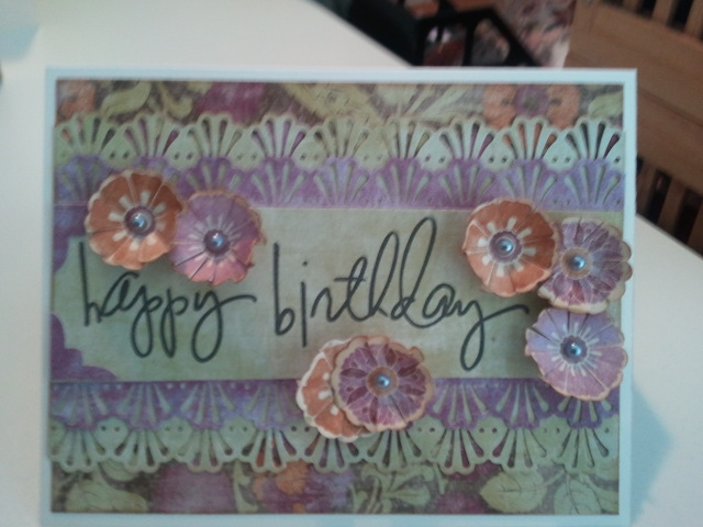 Card by Linda Jo for Happy Birthday Crop Across the Border challenge at http://www.scrapzee.com