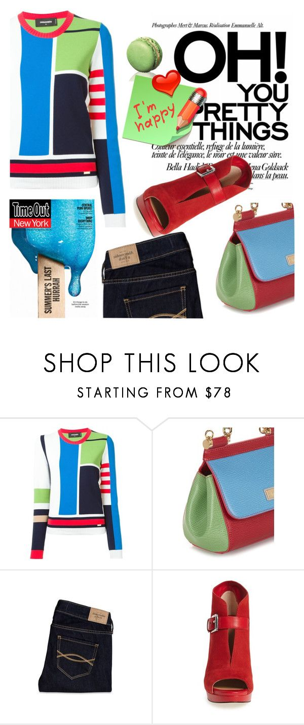 """Colour Block"" by samketina ❤ liked on Polyvore featuring Dsquared2, Dolce&Gabbana, Abercrombie & Fitch and MICHAEL Michael Kors"
