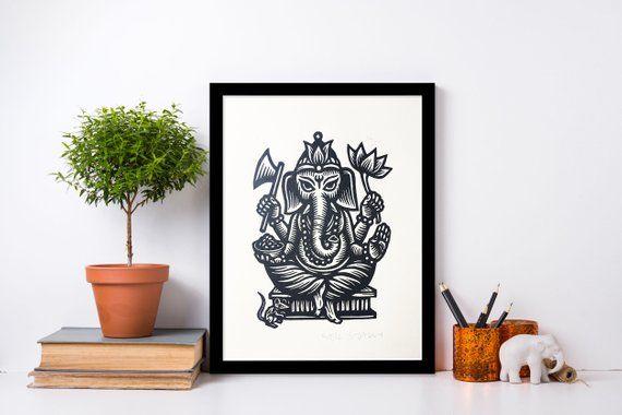 Ganesha Wall Art - Yoga Art - Indian Wall Art - Elephant Decor - Home Decor - Yoga Studio Decor  Ganesha Wall Art – Yoga Art – Indian Wall Art – Elephant Decor – Home Decor – Yoga Studio #Art #Decor #Elephant #Ganesha #home #Indian #Studio #wall #Yoga