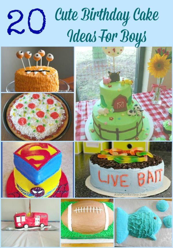20 Cute Birthday Cake Ideas For Boys 1 Year Old Birthday Party