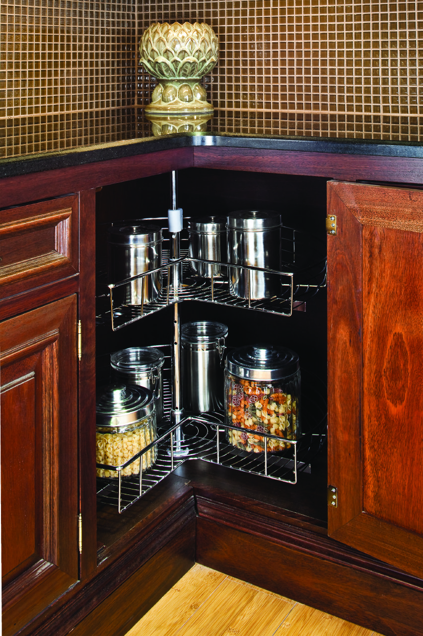 Lazy Susan 28 Metal Chrome Plated Shelving Independently Rotating Shelves Sold By The Set Includes 2 Kitchen Cabinets Hardware Resources Home Remodeling