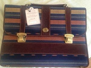 Leather briefcase in Long Beach, CA (sells for $85)