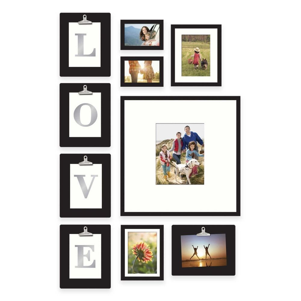 10 Piece Picture Photo Frame Set Love Or Home Collage Gallery Wall