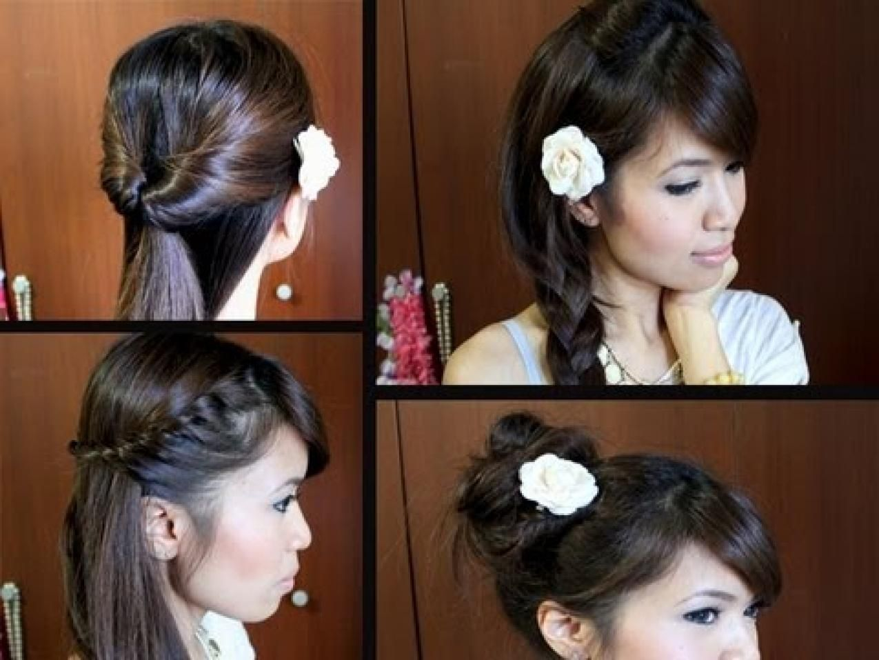Easy Hairstyles For Long Hair Step By Step Beautiful Easy - Braided hairstyles for short hair step by step