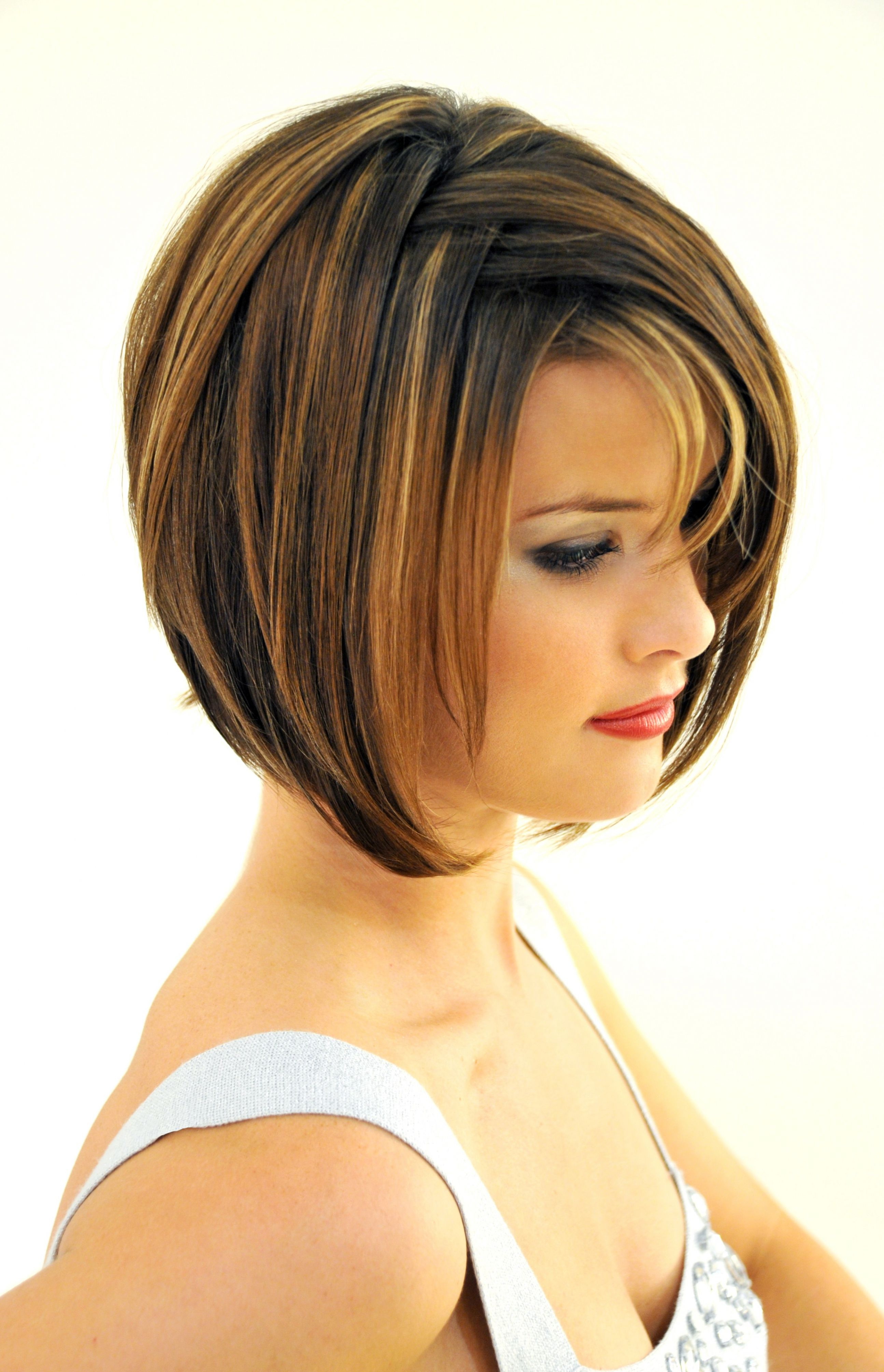 short haircuts with bangs and layers - hairstyle for women