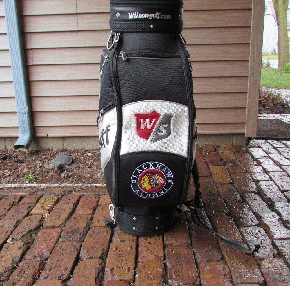 Chicago Blackhawks Alumni Golf Bag Keith Magnuson Wilson