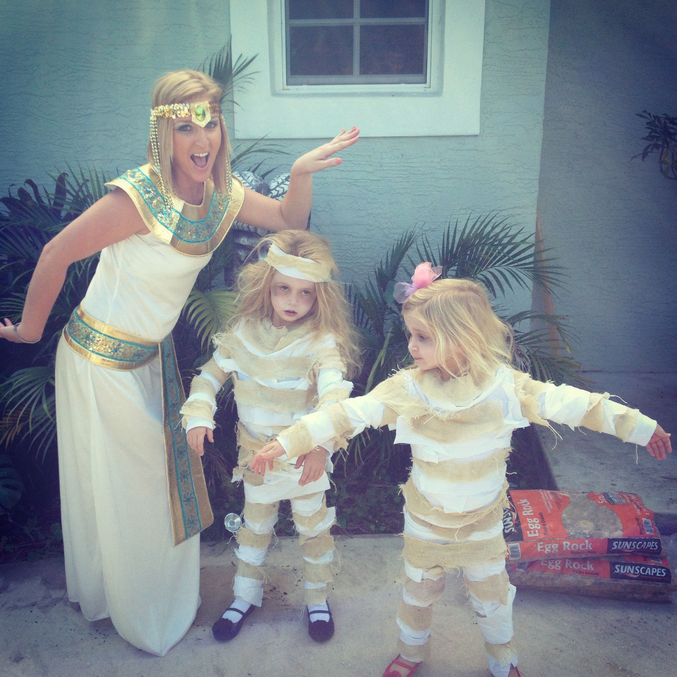 "HomeMade Mummy costumes made by ME ""cleopatra and her"