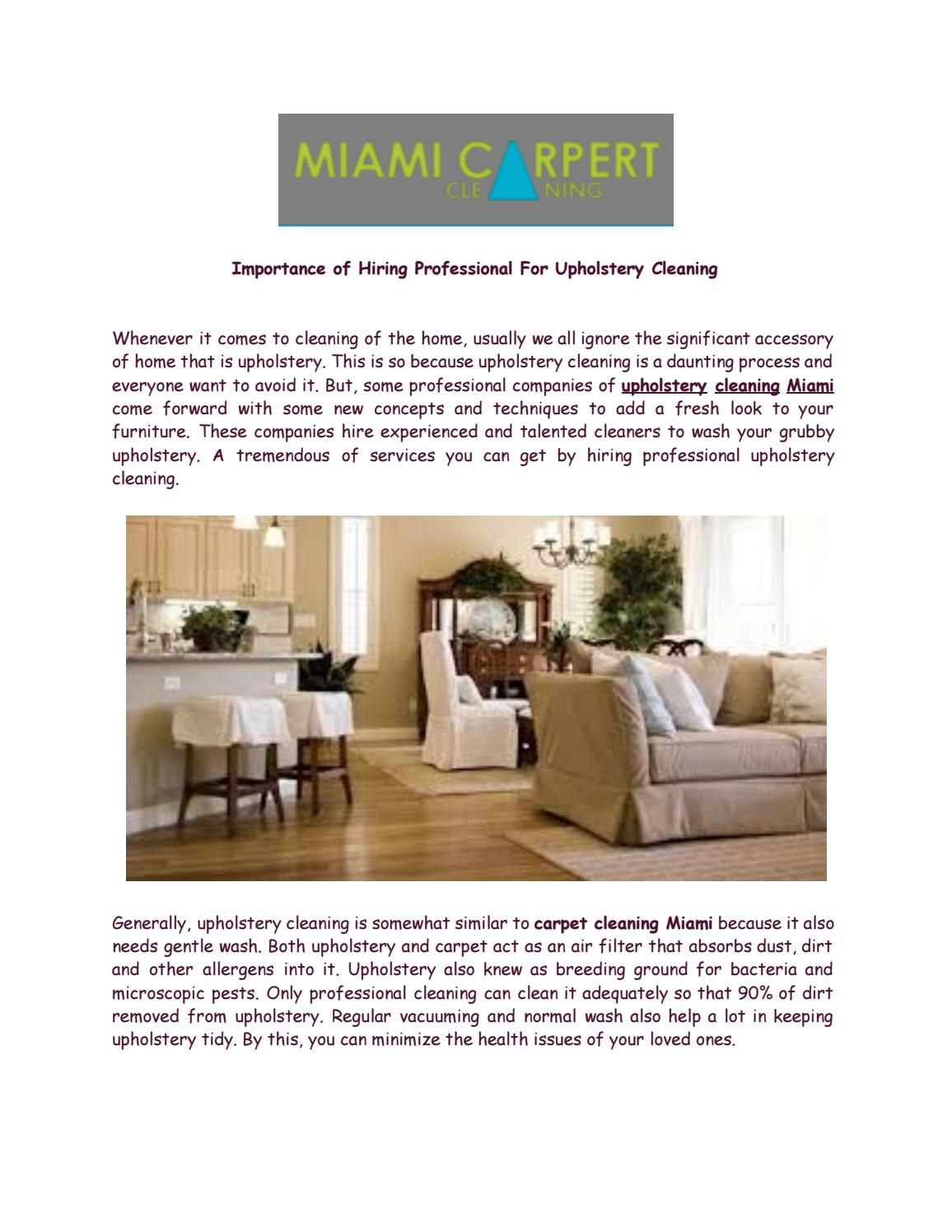 Importance of Hiring Professional For Upholstery Cleaning