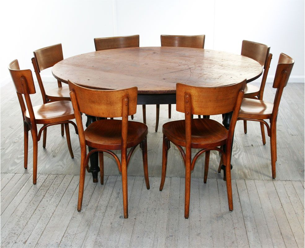 Painting Of Perfect 8 Person Round Dining Table Rustic Round