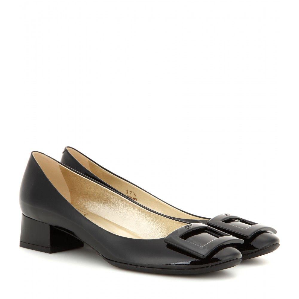 Low Price Roger Vivier Belle De Nuit Patent Leather Ballet Flat Shoes Blue