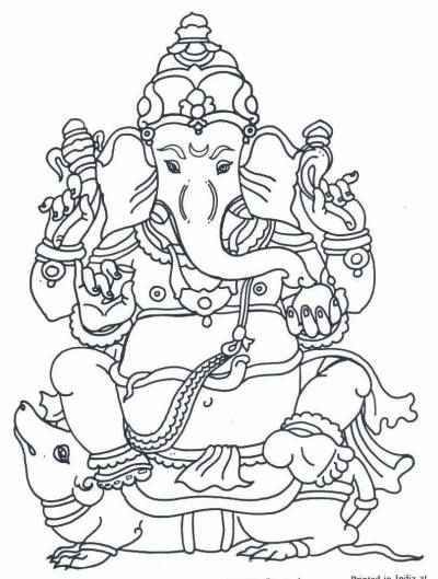 Ganesha Craft Children's Corner - Arts & Crafts - Coloring projects Good for lessons on Hinduism