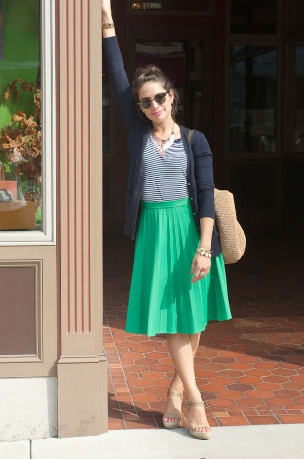 stripes and kelley green