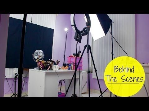 Youtube Filming Set Up For Beauty Videos Backdrops