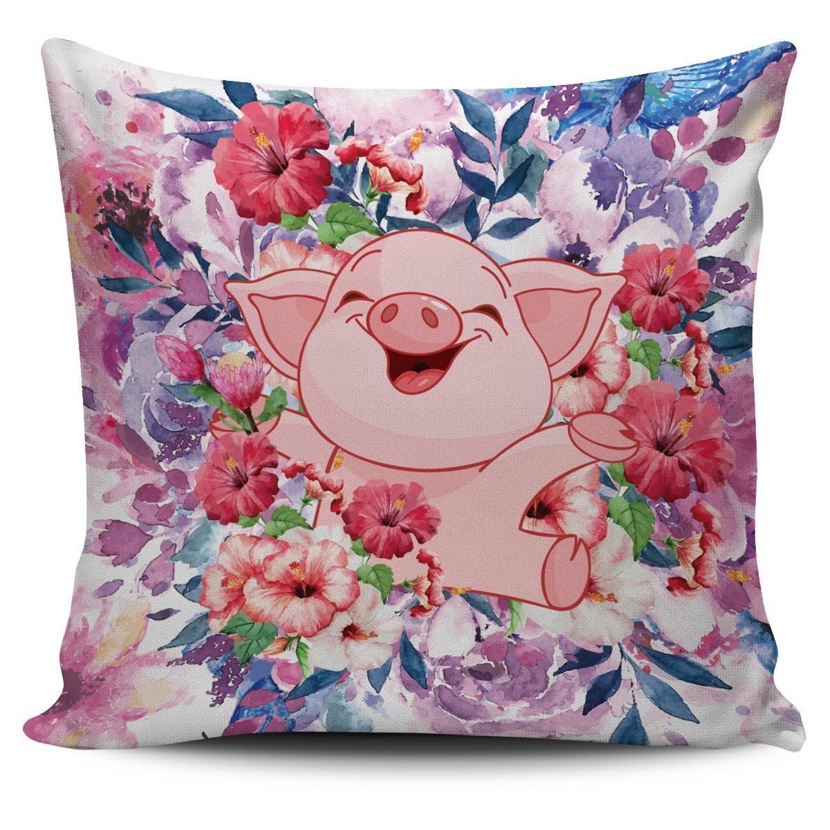Cute pig pillow covers with flowers pig pillow pillows