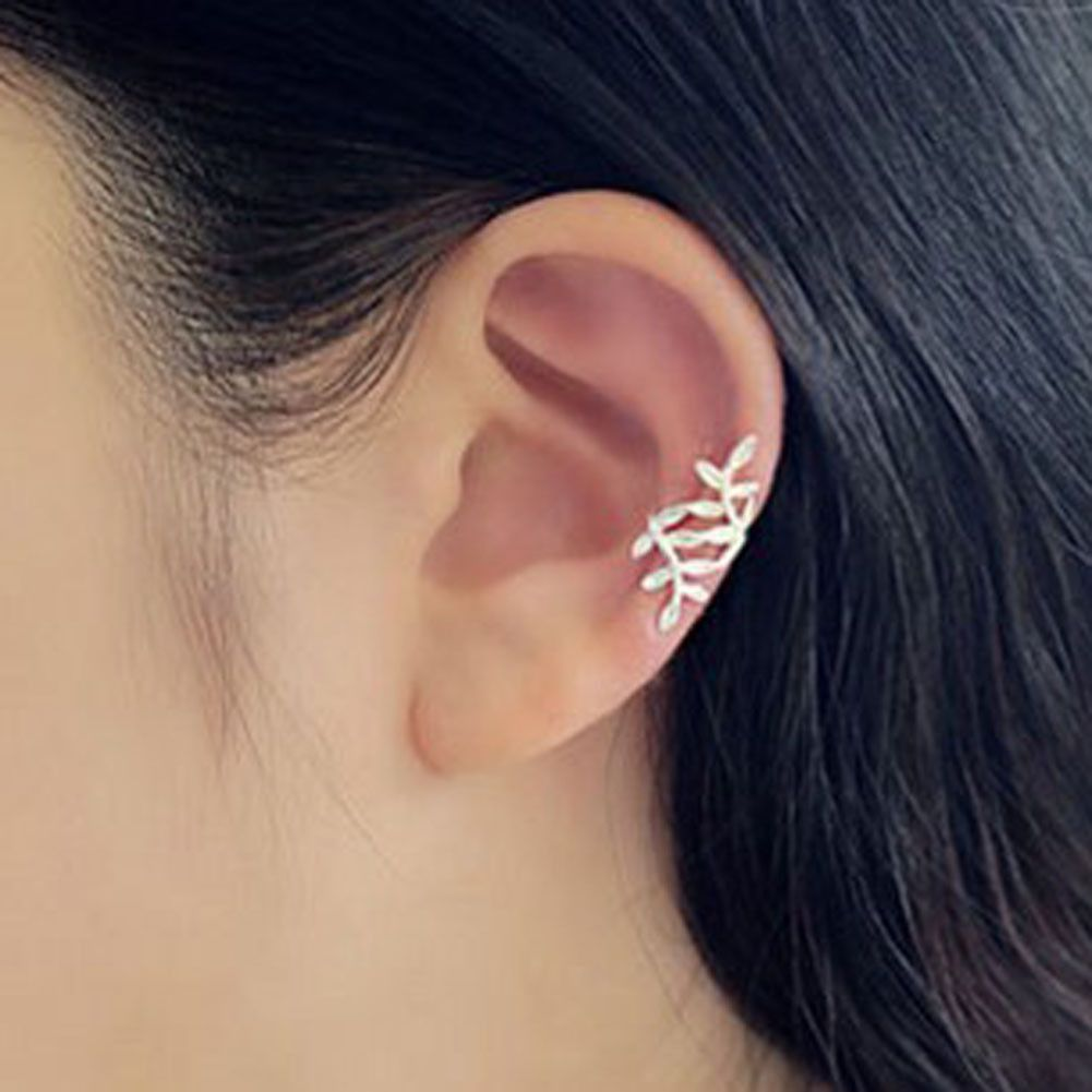 0bd16e0b5a0 Birchy Silver Leaves Ear Cuff | Pretty pretty wants | Cuff earrings ...