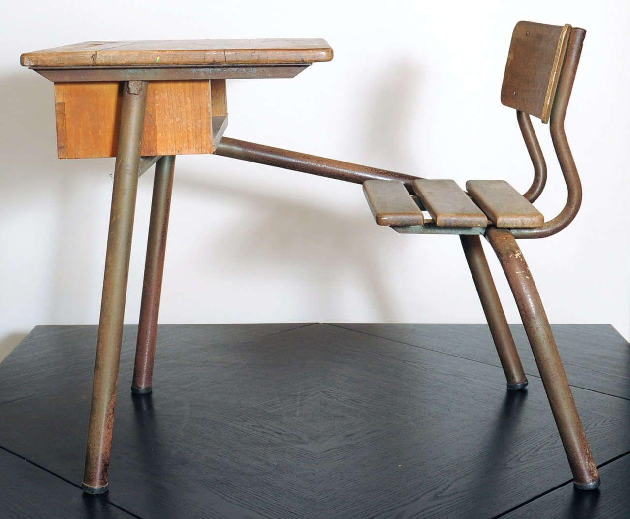 Desk Bureau Dcole Possibly Jean Prouv