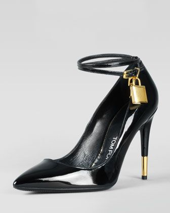 cbb64220e0f Tom Ford Padlock Ankle-Strap Pump - Neiman Marcus