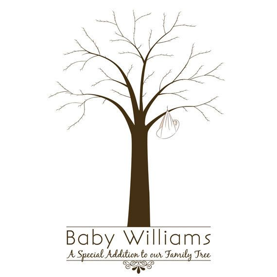 Printable baby shower fingerprint tree for the home for Friendship tree template