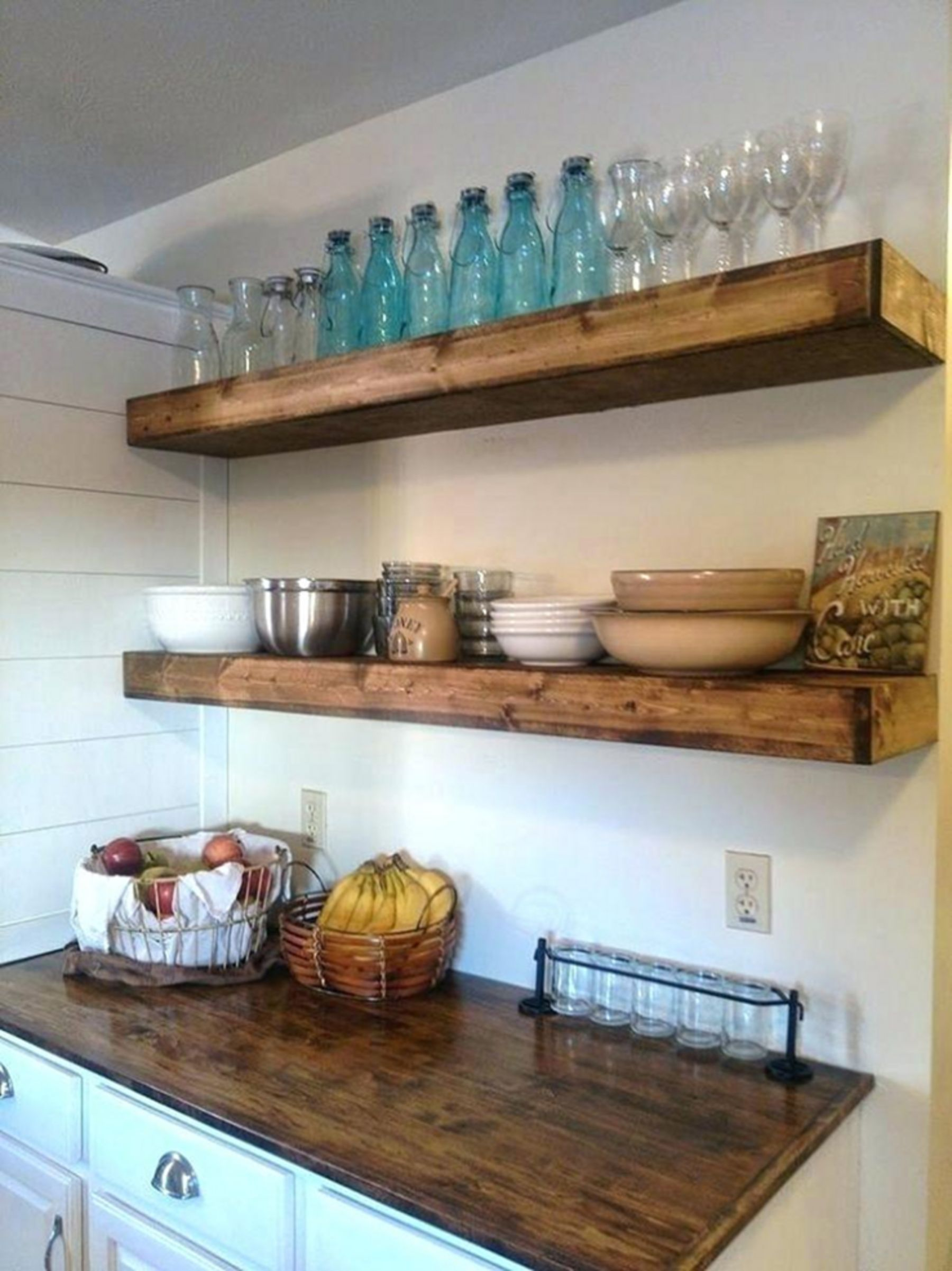 10 Popular Kitchen Wood Shelf Design Ideas To Make Your Cooking