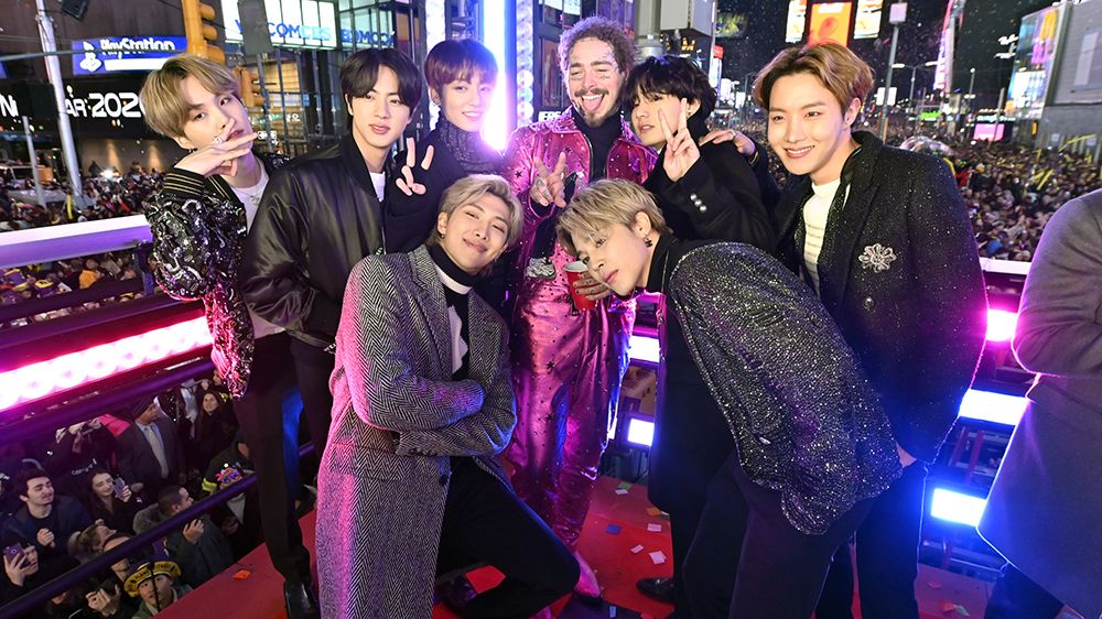 BTS Rocks New Year's Eve With Times Square Performance in