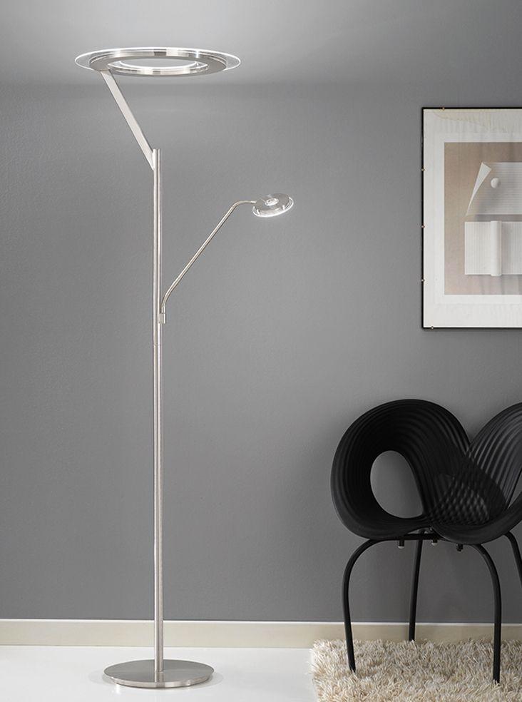 Sl214 Satin Nickel Led Mother And Child Floor Lamp Floor Lamp