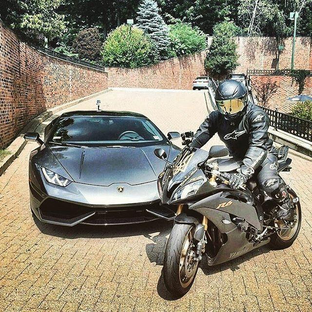 Iki Canavar Lamborghini Yamaha R6 Motoroloji Honda
