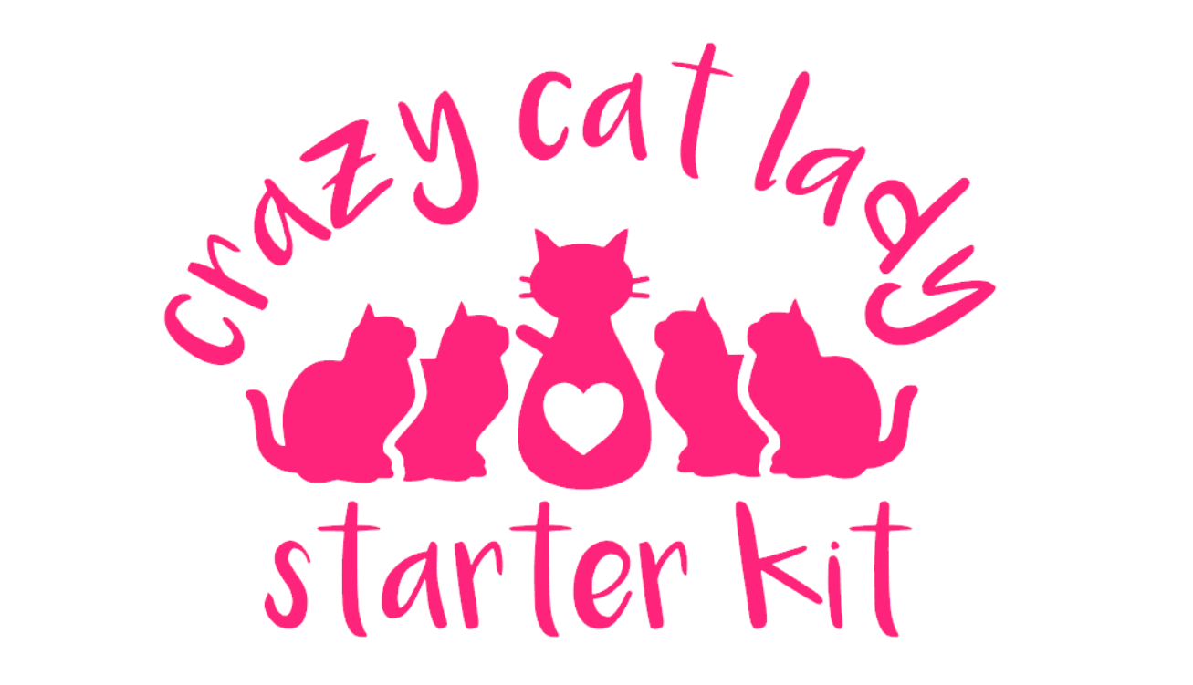 Crazy Cat Lady Starter Kit Car Decal Sticker Cat Lady Starter Kit Crazy Cat Lady Starter Kit Crazy Cats [ 751 x 1307 Pixel ]