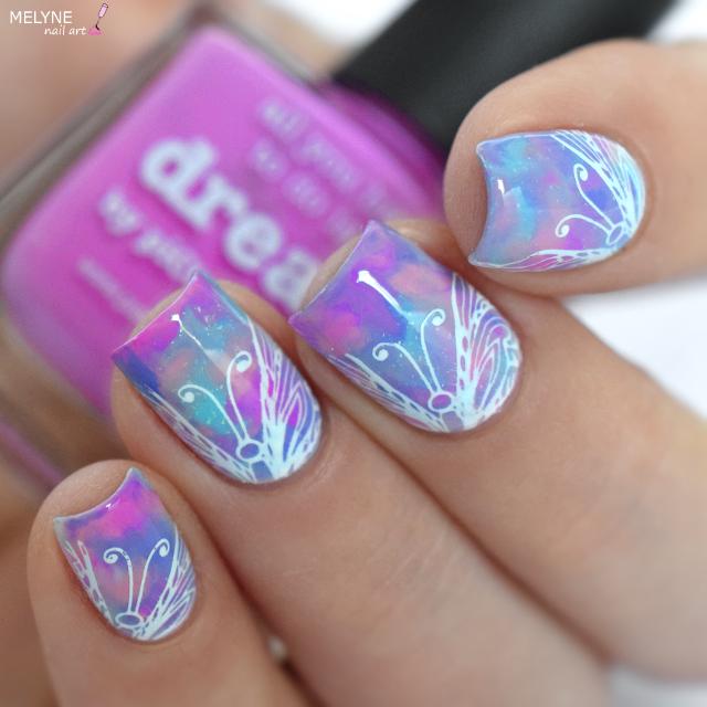 Nail Art Dry Marble couleur Licorne + TUTORIAL | Nail arts, Couleur ...