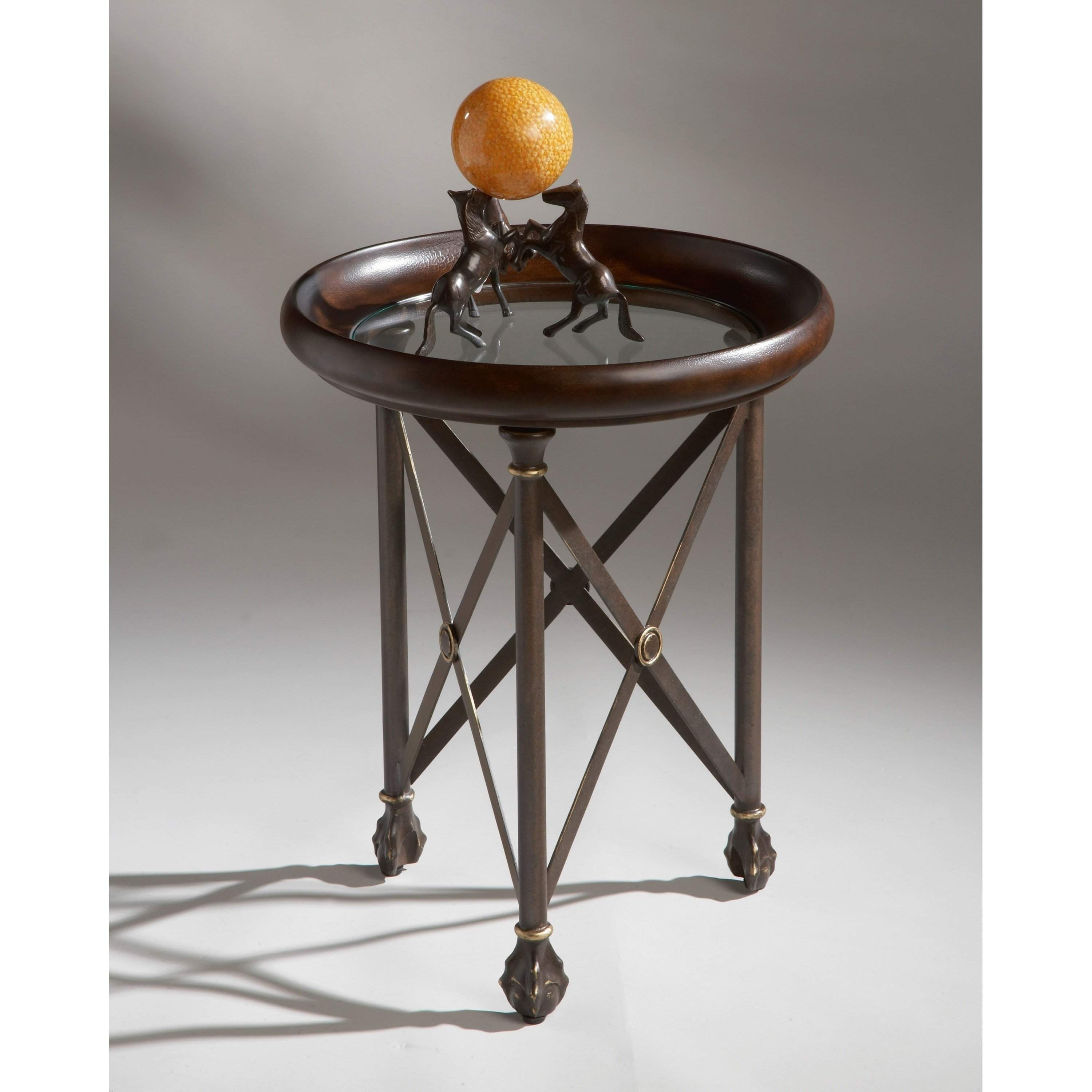 Butler Richton Transitional Accent Table 1470025 Glass Top Accent Table Glass Accent Tables