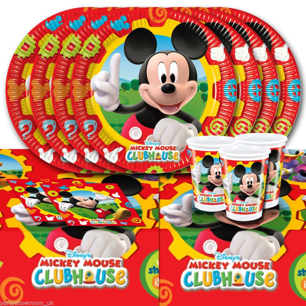 Disney Mickey Mouse Clubhouse Children\u0027s Birthday Party Tableware Pack For 16 #Disney #MickeyMouse #  sc 1 st  Pinterest & Disney Mickey Mouse Clubhouse Children\u0027s Birthday Party Tableware ...