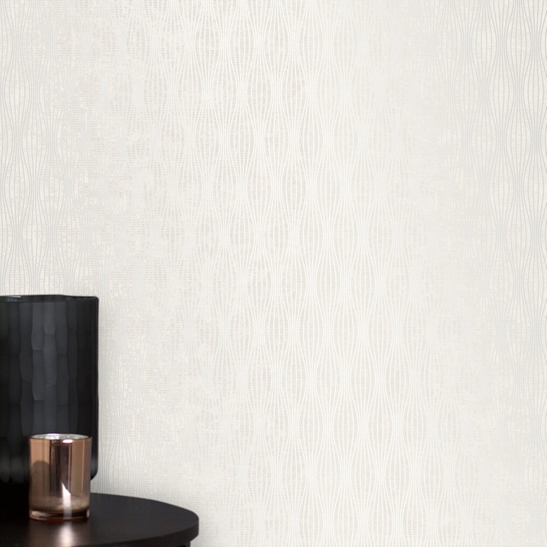 Brewster Kalix Light Gray Wave Wallpaper Products Waves