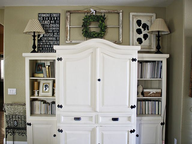 Idea For Decorating The Top Of The Entertainment Center Decor