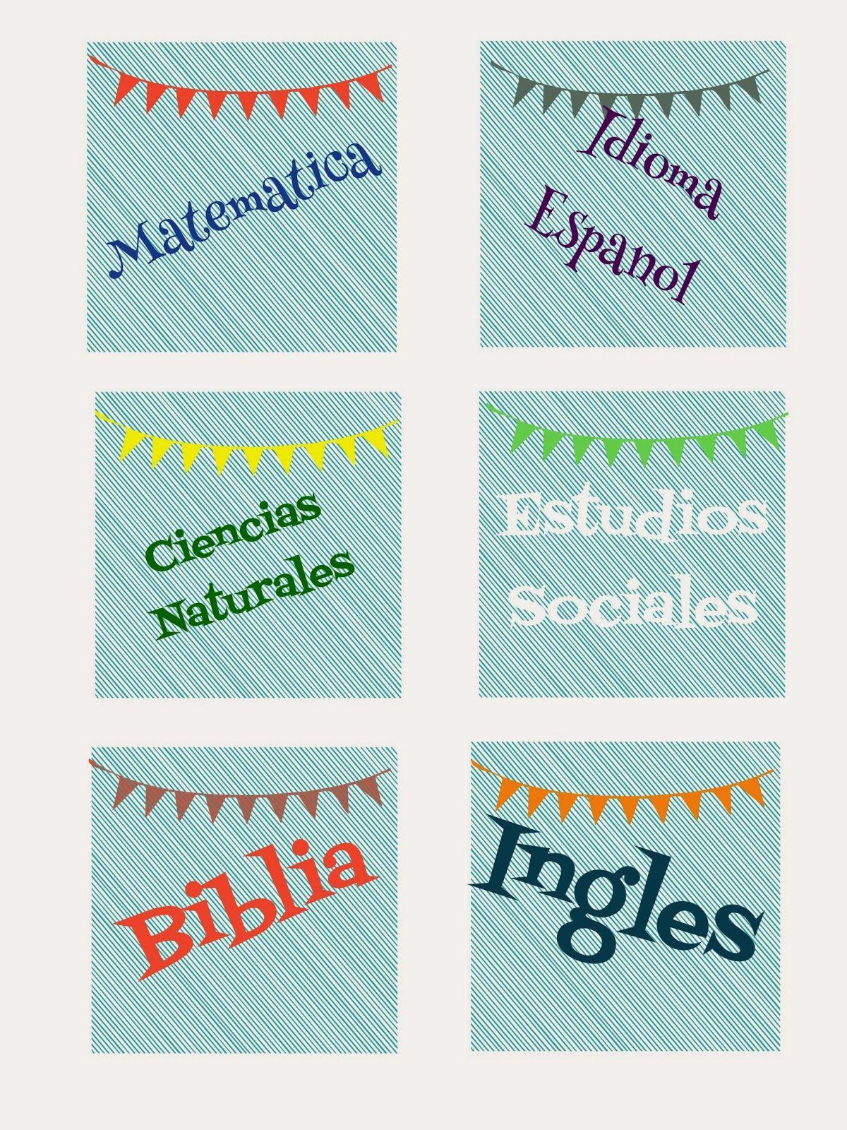 Etiquetas para Cuadernos. Gratis para imprimir. | plantillas ...