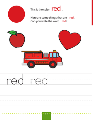 Write & Color Red Motor skills, Fine motor and The words