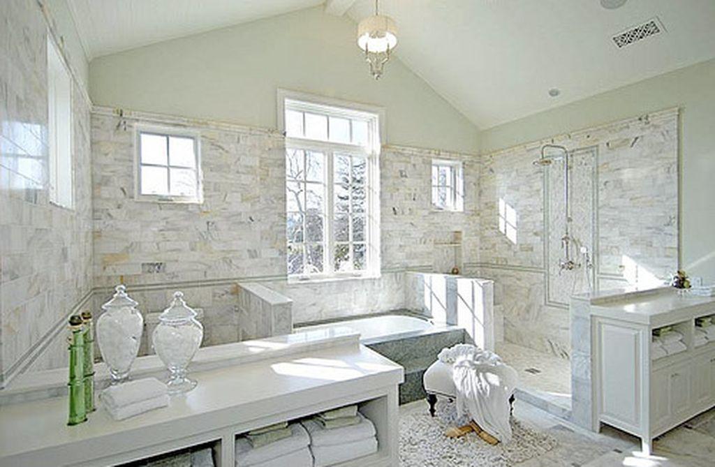 40 Insanely Cool Master Bathroom Remodel Inspiration 16 White Master Bathroom Luxury Bathroom Bathroom Inspiration
