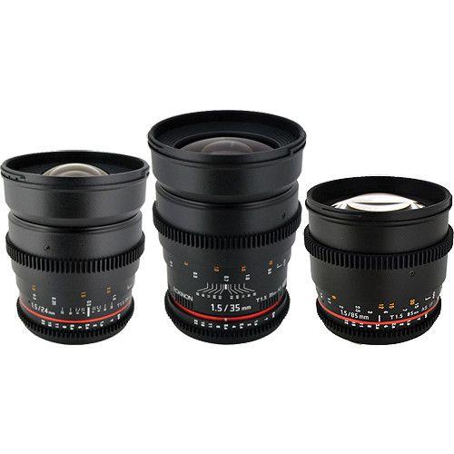 Rokinon T1 5 Cine Lens Bundle For Sony E Mount Sony E Mount Zoom Lens Wide Angle Lens