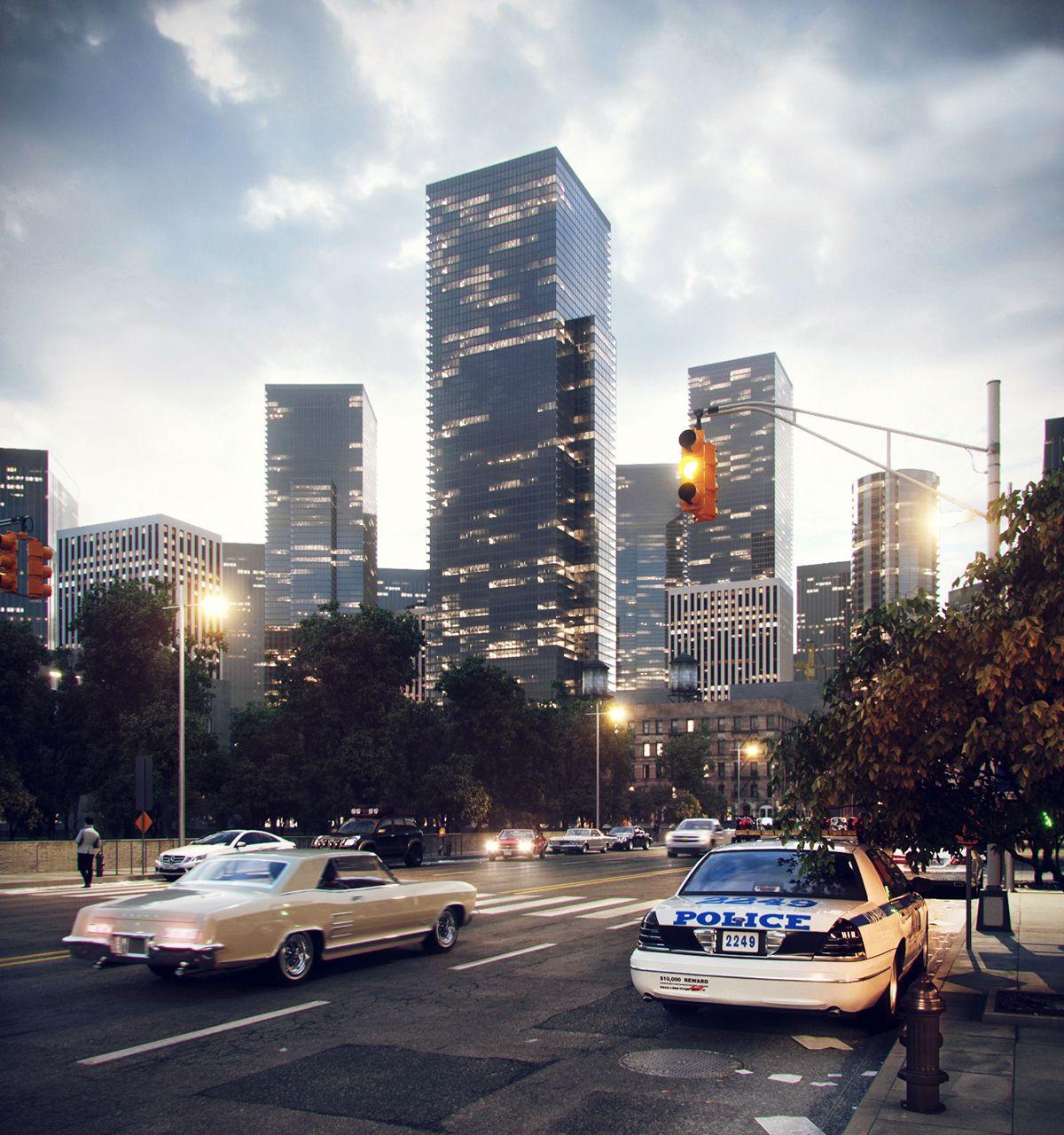 Evening street on Behance | Галерея, Проекты