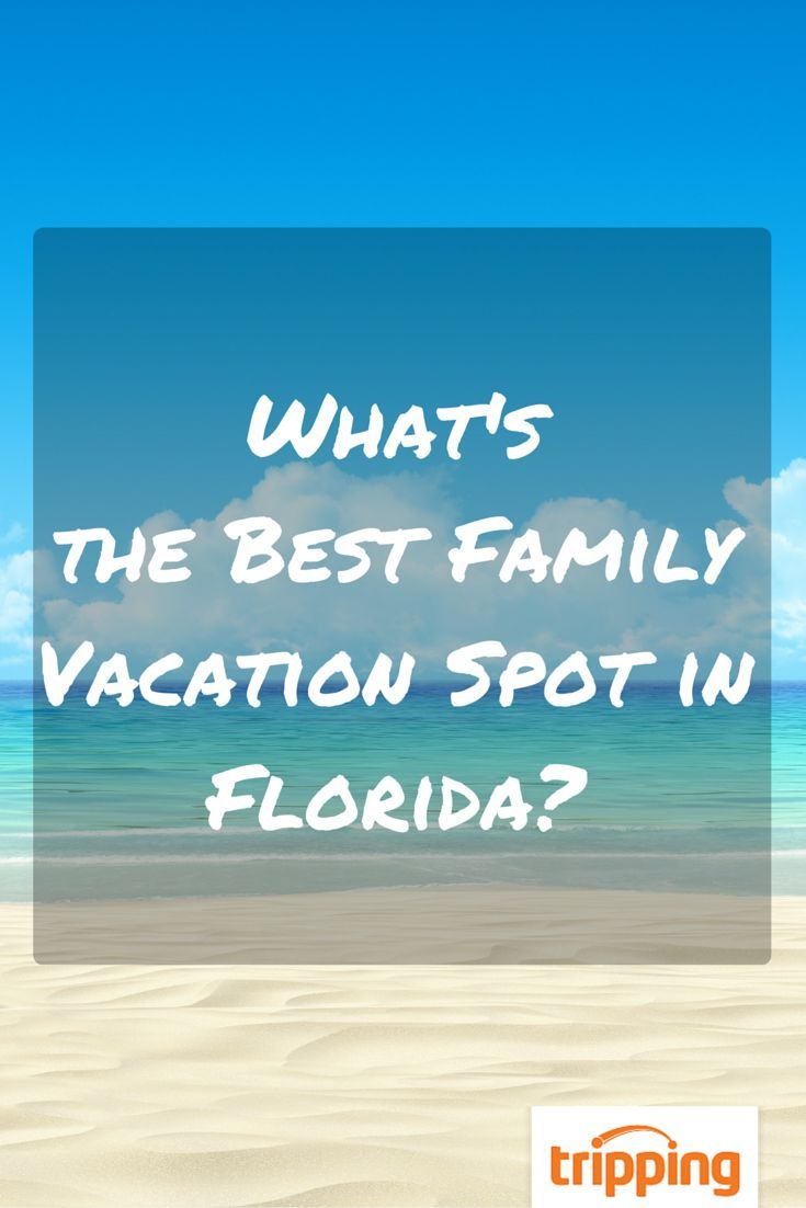 Beaches, attractions, small towns, bustling big cities - Florida has it all. But where's the best vacation spot for families? It was some stiff competition, but the answer is...
