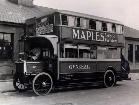 Last horse drawn bus in London was in 1914 and 1932 in rural areas - double first