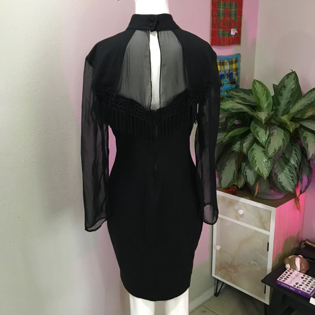Hearts sz or l black fringe vintage s dress products