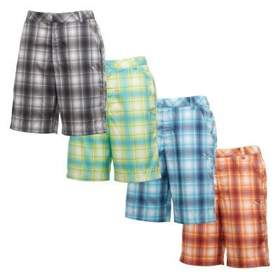 1da060ac6a5c The Puma Golf Ombre Plaid Tech Shorts will add a dazzling color pattern to  any of your Puma Golf outfits.  golfclothes