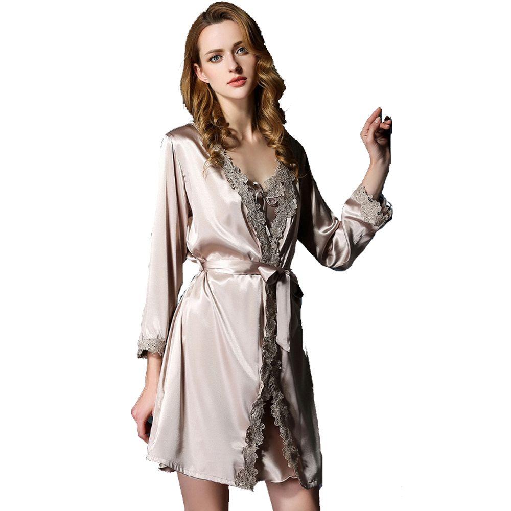 77c672ec8dc30 50,90€ Peignoir femme soie argentee -- Peignoir femme soie 200g/m2 ...