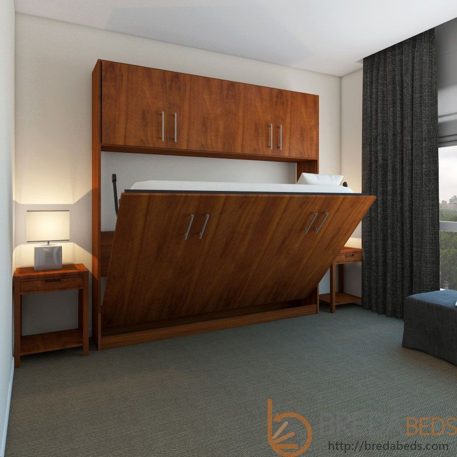 Horizontal Urban Murphy Bed W/Top HutchTransitioning