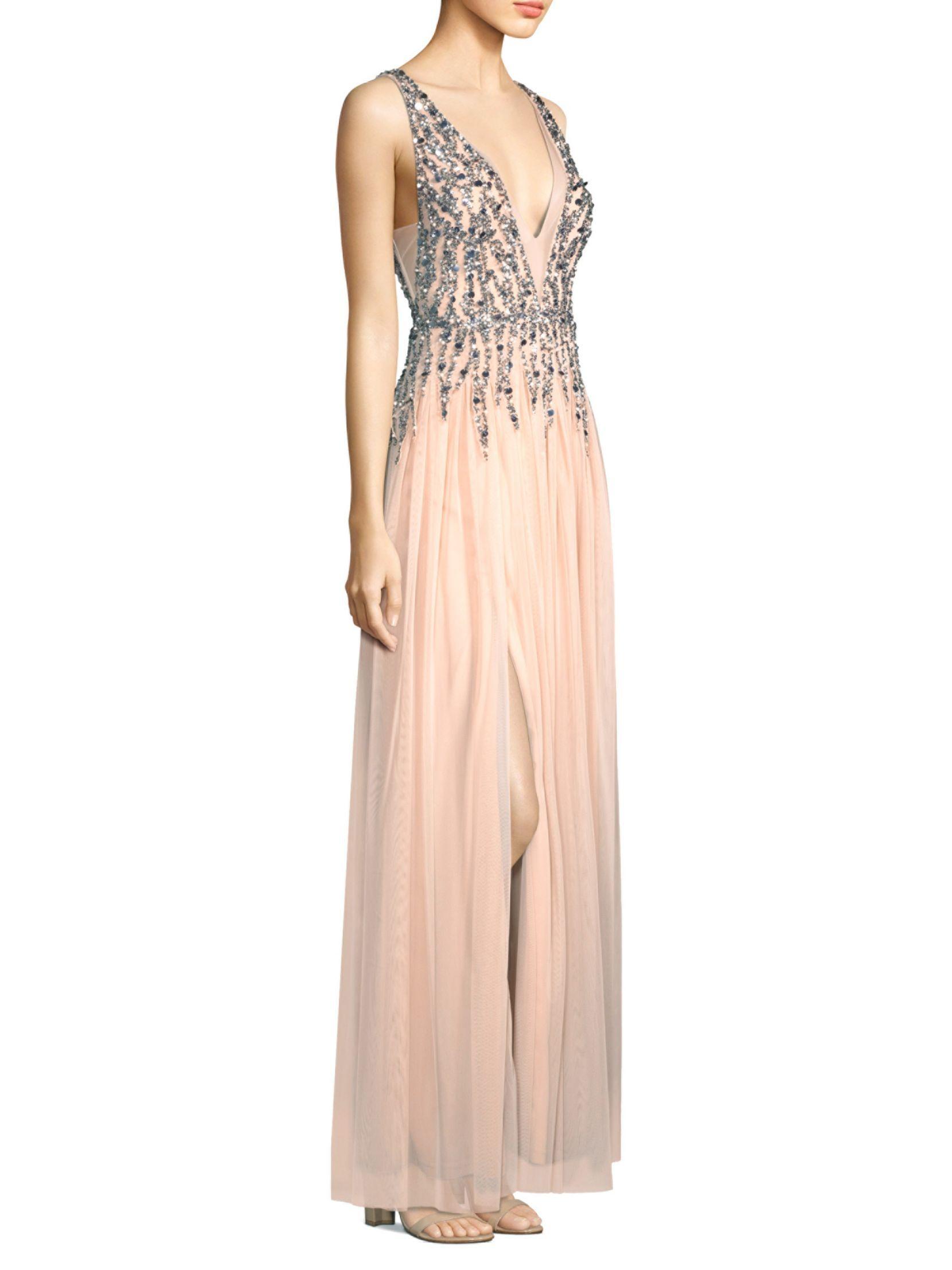 Aidan Mattox Sleeveless Beaded Dress – Dresses for Woman