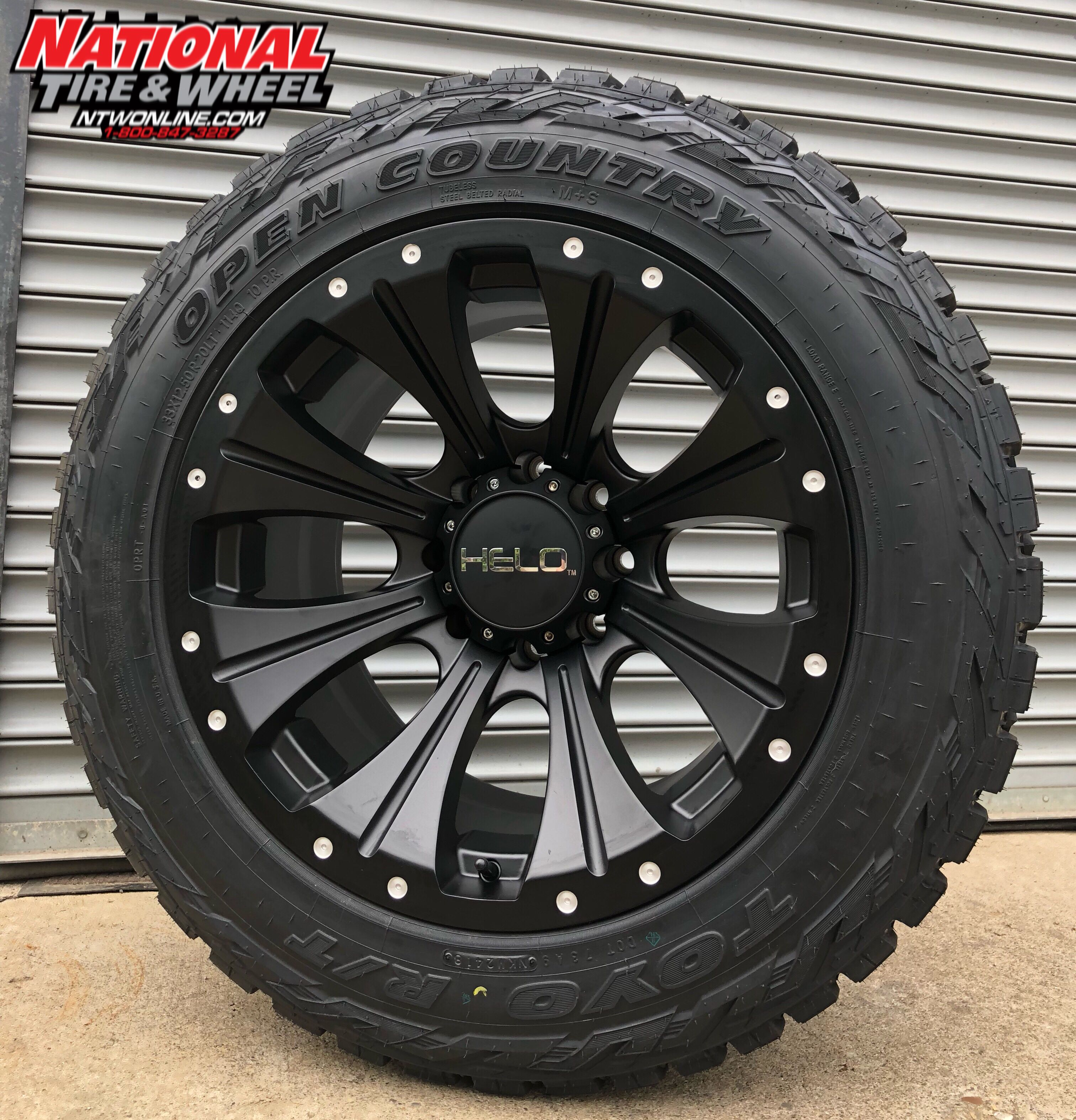 20x12 Helo Type 901 Mounted Up To A 33x12 50r20 Toyo Open Country Rt Rims And Tires Wheel And Tire Packages Honda Ridgeline Custom