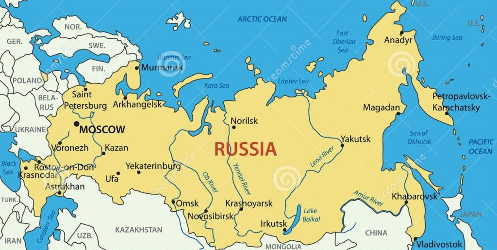 17 Interesting Facts About Russian Geography Is Russia Europe Or Asia Russia Map Map Russia
