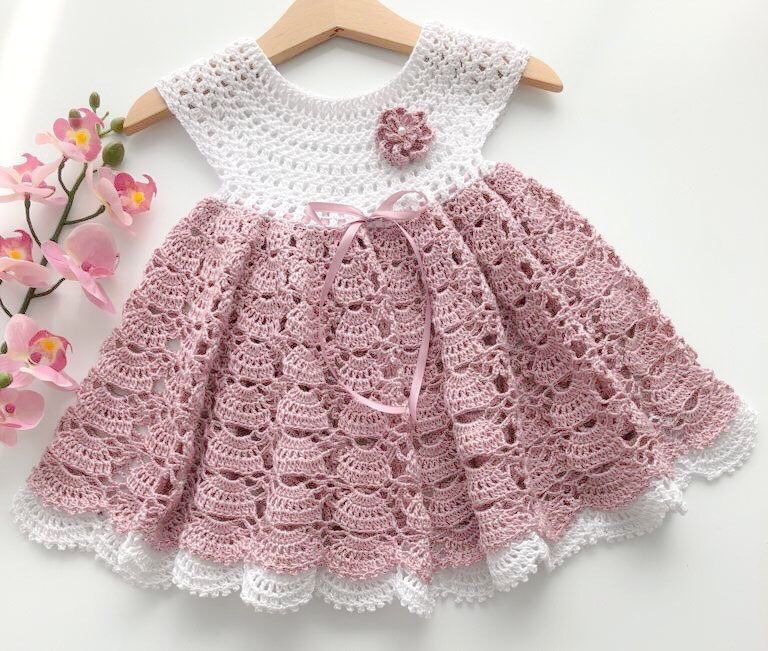 Crochet baby dress  Excited to share this item from my shop Beautiful b Crochet baby dress  Excited to share this item from my shop Beautiful baby dress Crochet baby dres...