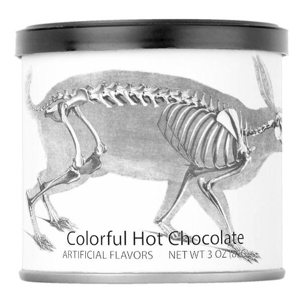 Scary Vintage Bunny Skeleton Powdered Drink Mix  Halloween