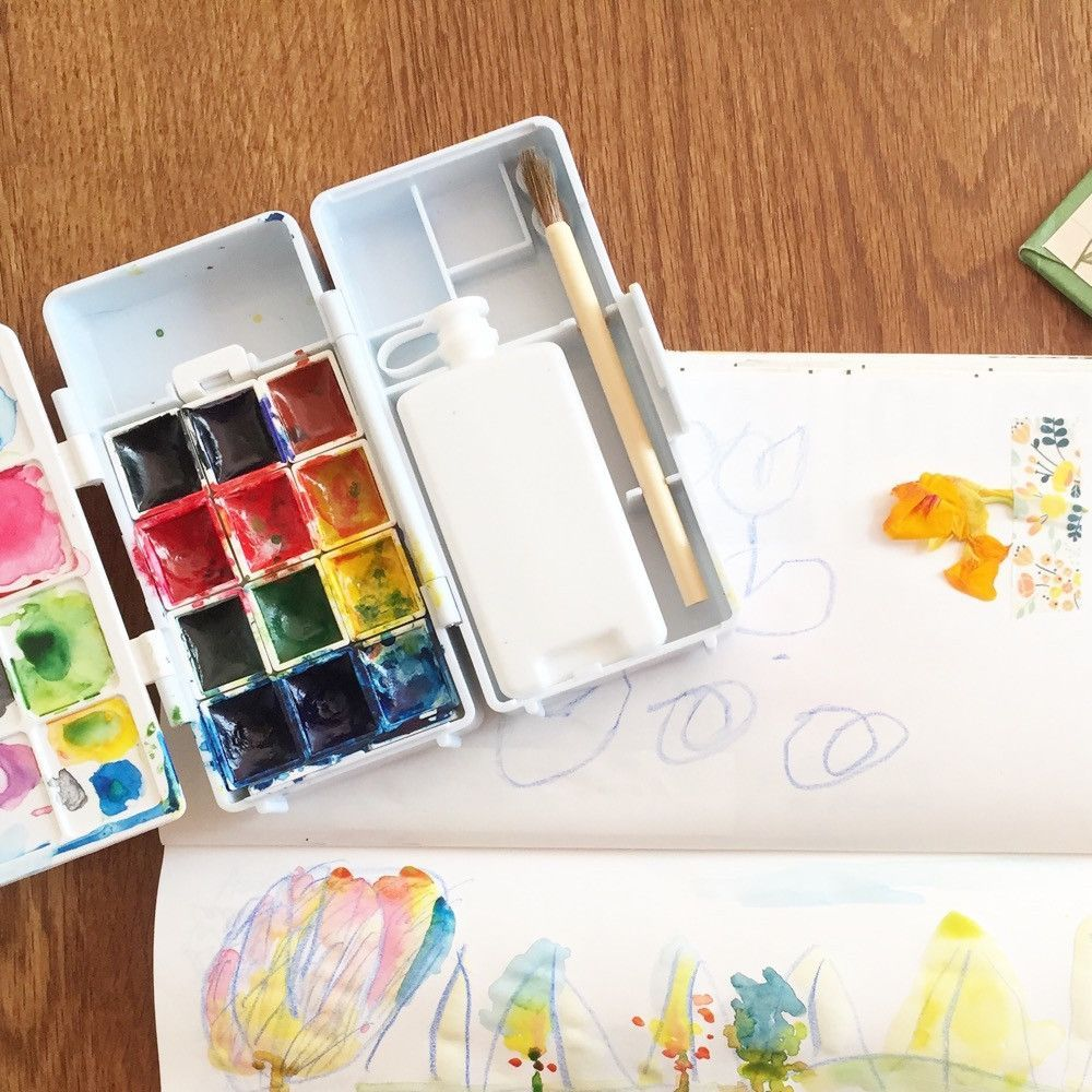 Kuretake Watercolor Travel Kit Watercolor Kit Travel Kits