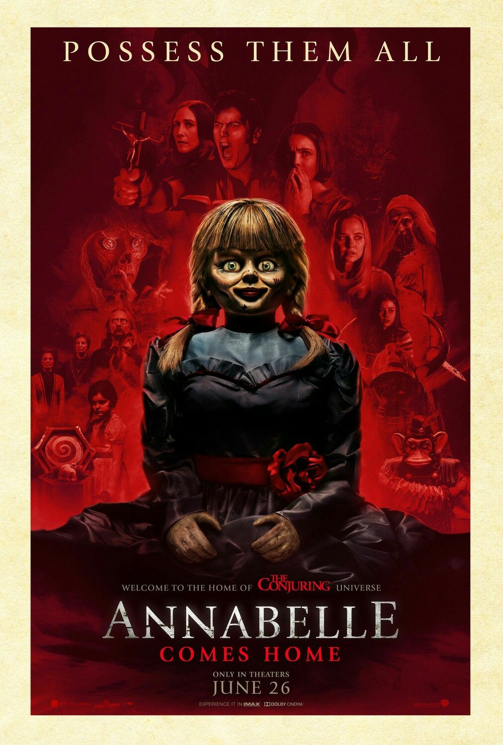 New Official Poster For Annabelle Comes Home 2019 Dir Gary